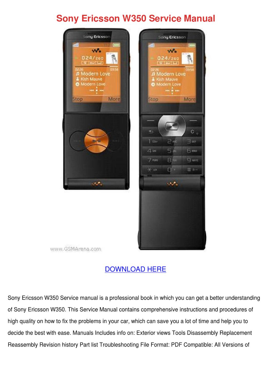 Sony ericsson t100 service repair manual download manuals & t.