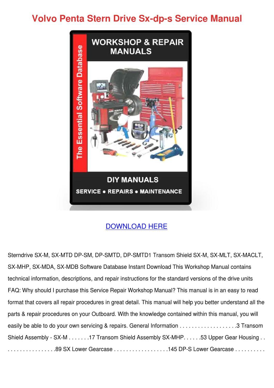 Array - volvo penta stern drive sx dp s service manua by willardthao      rh   issuu com