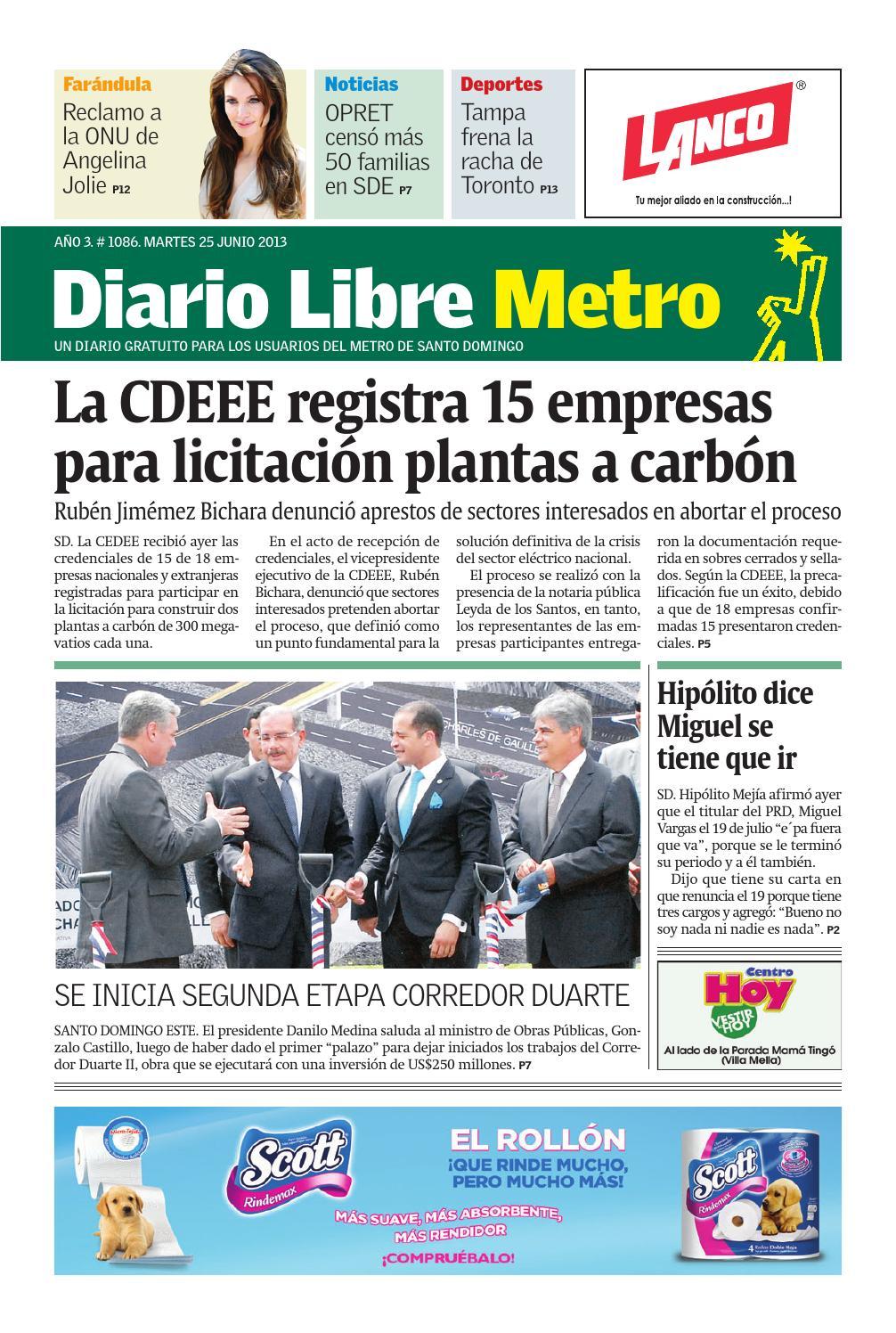 Diariolibremetro1086 by Grupo Diario Libre, S. A. - issuu