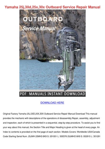 yamaha 30d outboard service manual