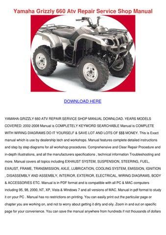 yamaha grizzly 660 atv repair service shop ma