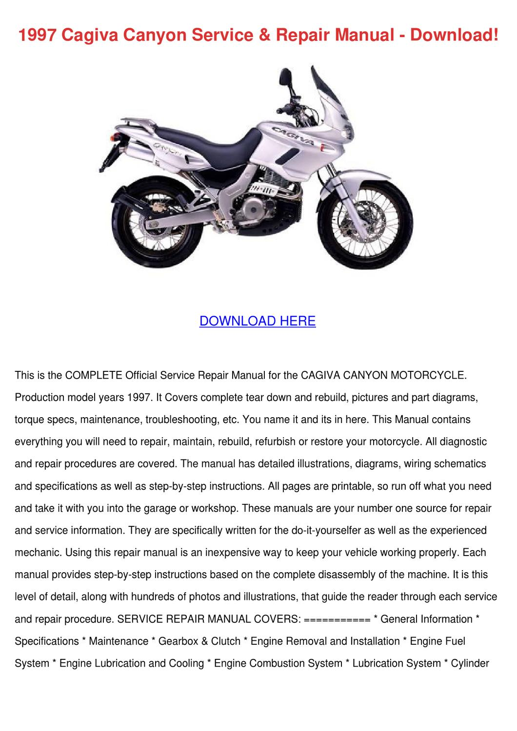 Remarkable 1997 Cagiva Canyon Service Repair Manual Down By Eloisacreech Issuu Wiring 101 Archstreekradiomeanderfmnl