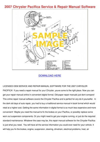 2007 Chrysler Pacifica Service Repair Manual by HattieFlaherty - issuu