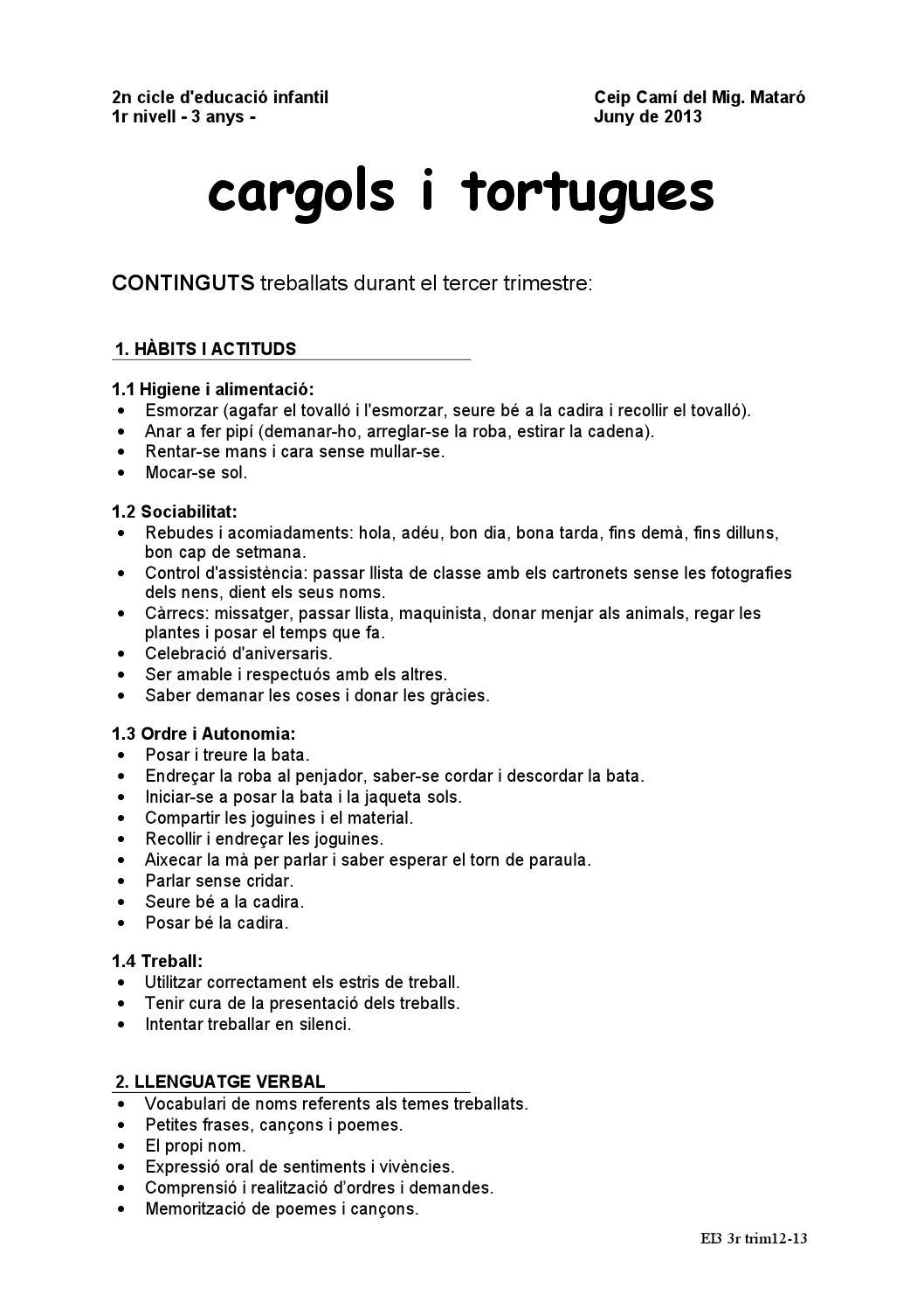 3rtrimestre P3 12 13 By Escola Cami Del Mig Issuu