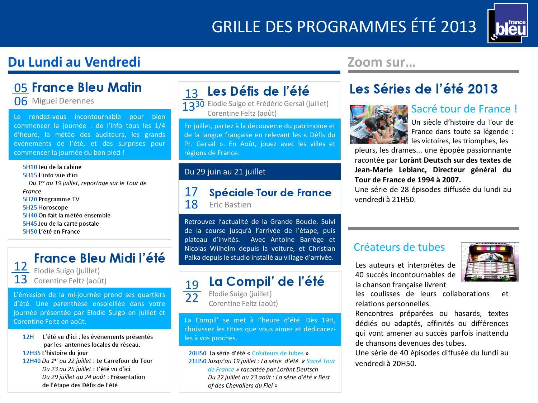 France bleu et 2013 grilles des programmes by france - France bleu gascogne grille des programmes ...