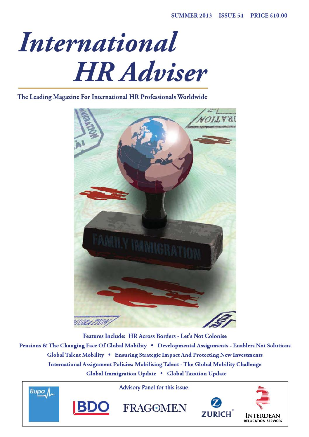 International HR Adviser Summer 2013 by International HR