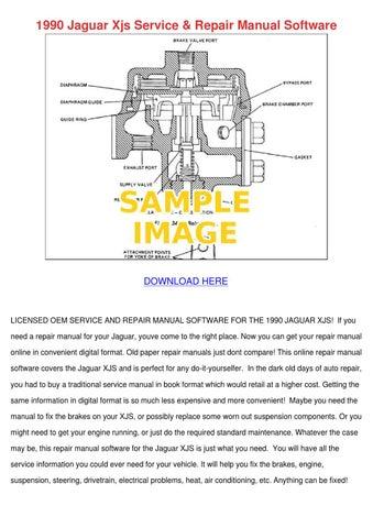 1990 Jaguar Xjs Service Repair Manual Softwar by AmparoWhitworth ...