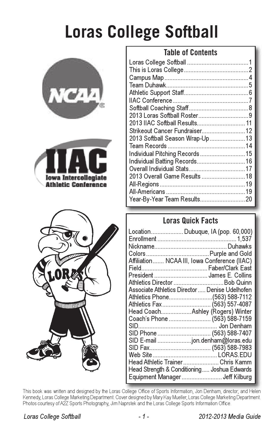 Loras Campus Map.Loras College 2013 Softball Media Guide By Loras College Issuu