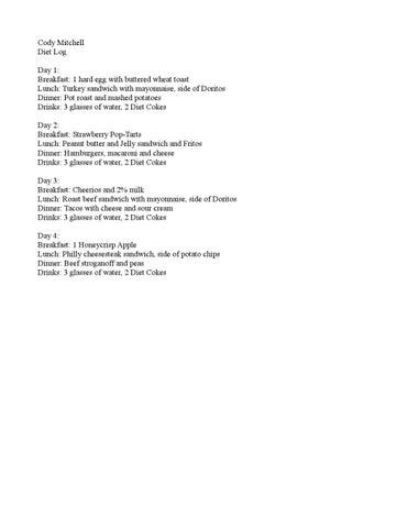 diet logs by annmarie steffen issuu