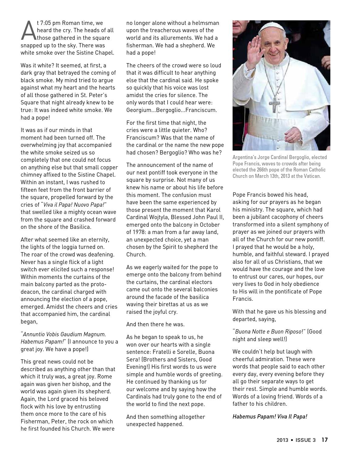Roman Echoes 2013 Issue 3 By Pontifical North American College Issuu