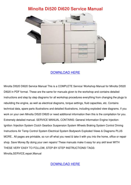 minolta di520 di620 service manual by jerilyngunderson issuu rh issuu com minolta di351 manual español minolta di351 service manual