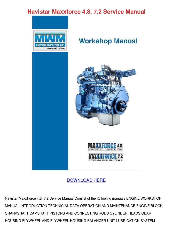 Navistar Maxxforce 7 Workshop Service Repair