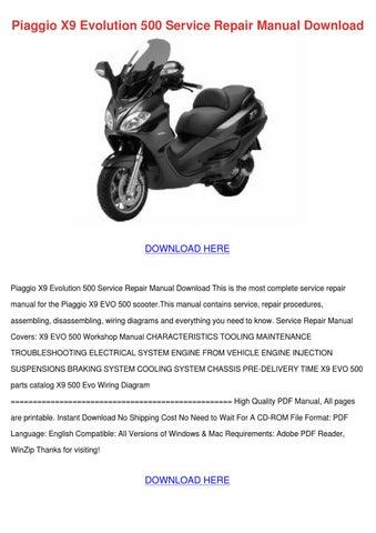 piaggio x9 evolution 500 service repair manua by clintbrinkley issuu rh issuu com Honda Service Repair Manual GM Service Repair Manuals