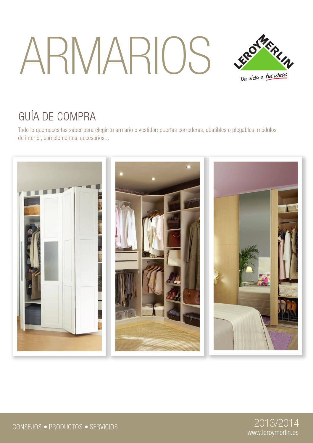 Leroy merlin armarios guia de compra 2013 14 by for Armarios sin puertas leroy merlin