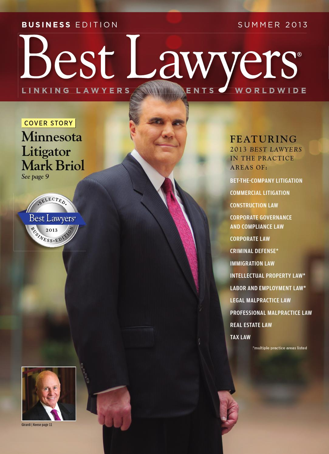 Best Lawyers Summer Business Edition 2013 by Best Lawyers - issuu e8daf1edd0461