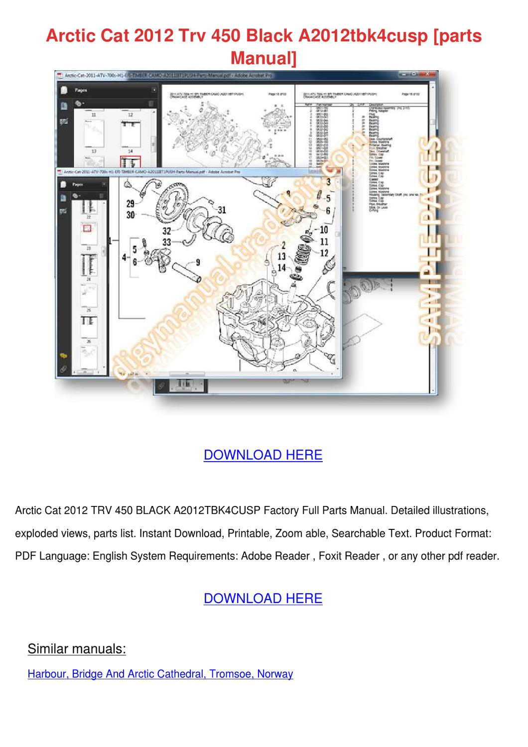 Arctic Cat 2012 Trv 450 Black A2012tbk4cusp P By Catalinabeckwith Thundercat Snowmobile Wiring Diagram Issuu