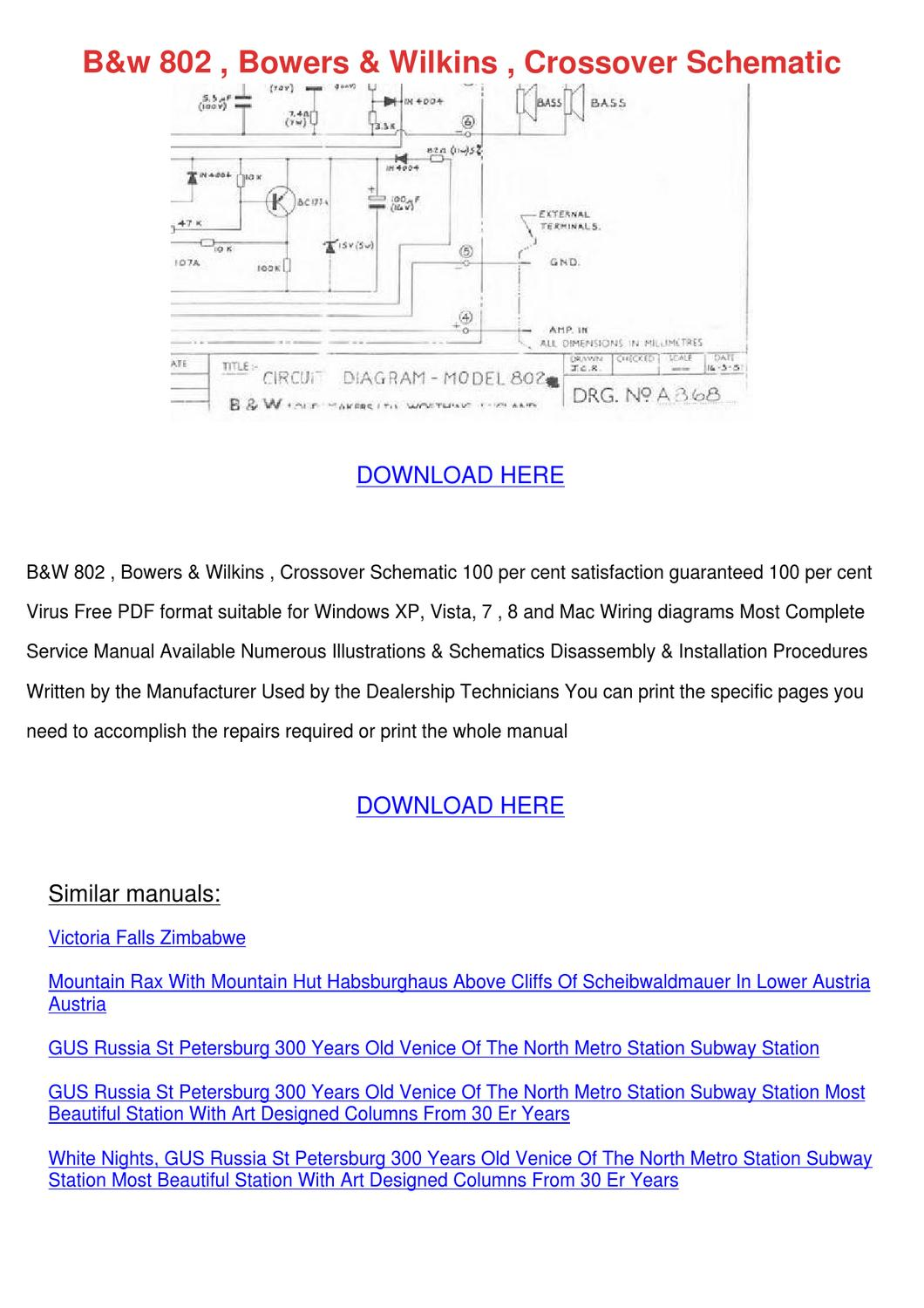 page_1 bw 802 bowers wilkins crossover schematic by catalinabeckwith issuu