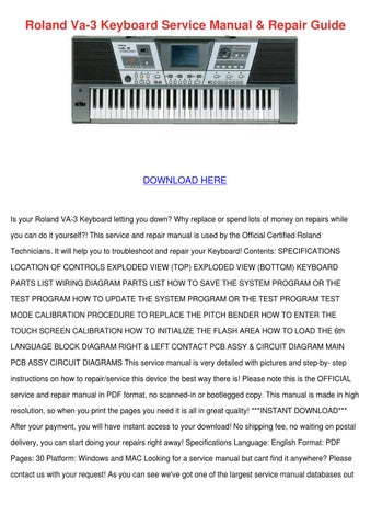 Roland Piano Repair Manual