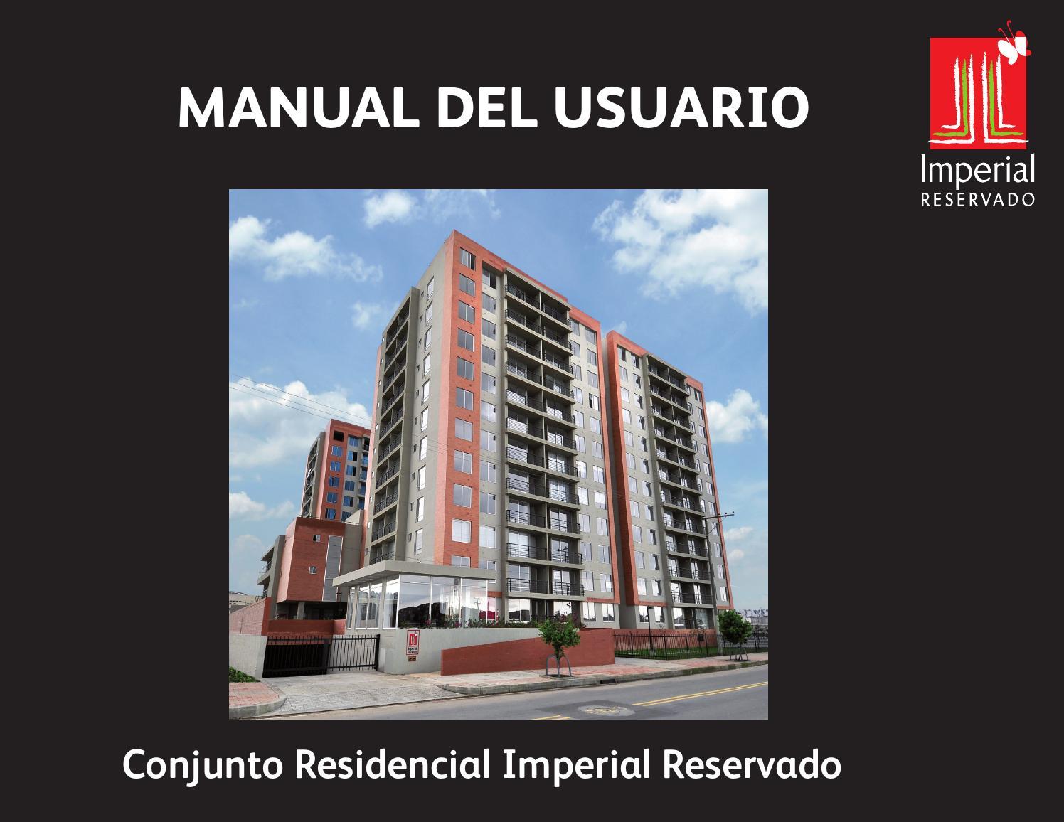 Manual usuario conjunto residencial imperial reservado by Ospinas ...