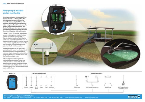 02d772e3eb2 River Pump Station Flow Meter and Weather Station Monitoring - Mace Solution