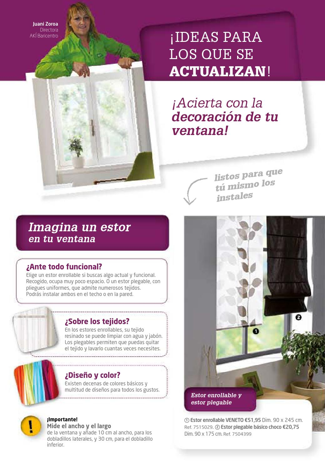 Decoracion vivaki 2013 cast by issuu - Mosquiteras enrollables aki ...