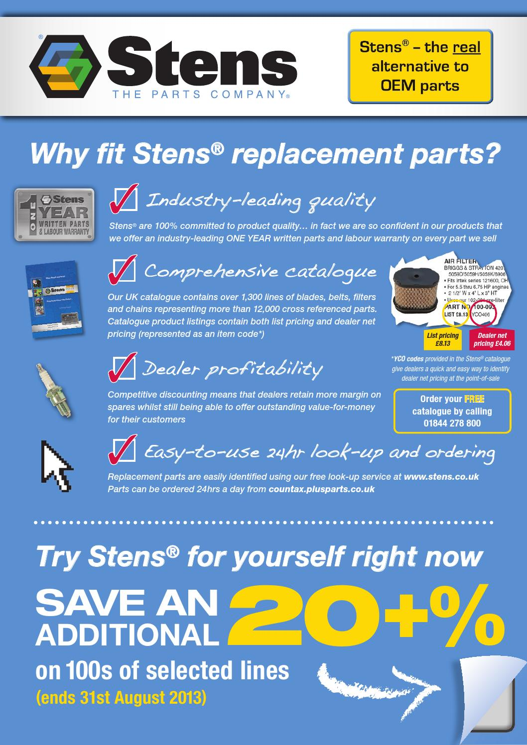 STENS 248-043 made with Kevlar Replacement Belt