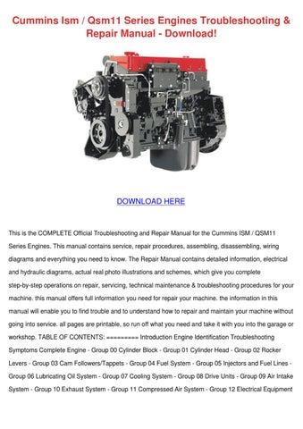 mins Ism Qsm11 Series Engines Troubleshoot by ... Qsm Wiring Diagram on
