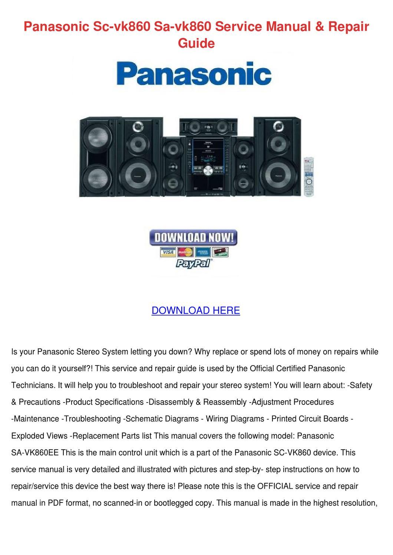 Panasonic Sc Vk860 Sa Service Manual Re By Marquitalawton Issuu Stereo Wiring Diagram