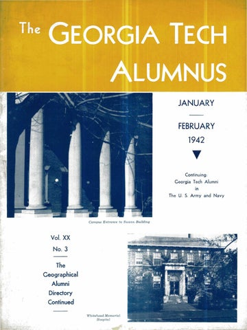 Georgia Tech Alumni Magazine Vol 20 No 03 1942