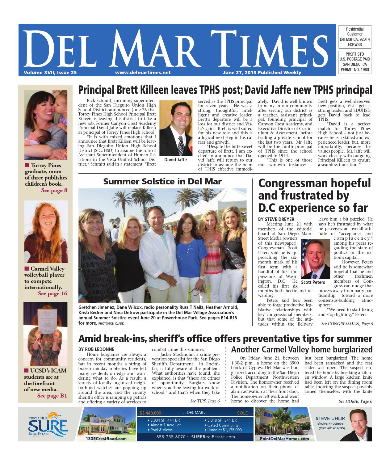 Del mar times 6 27 13 by MainStreet Media - issuu
