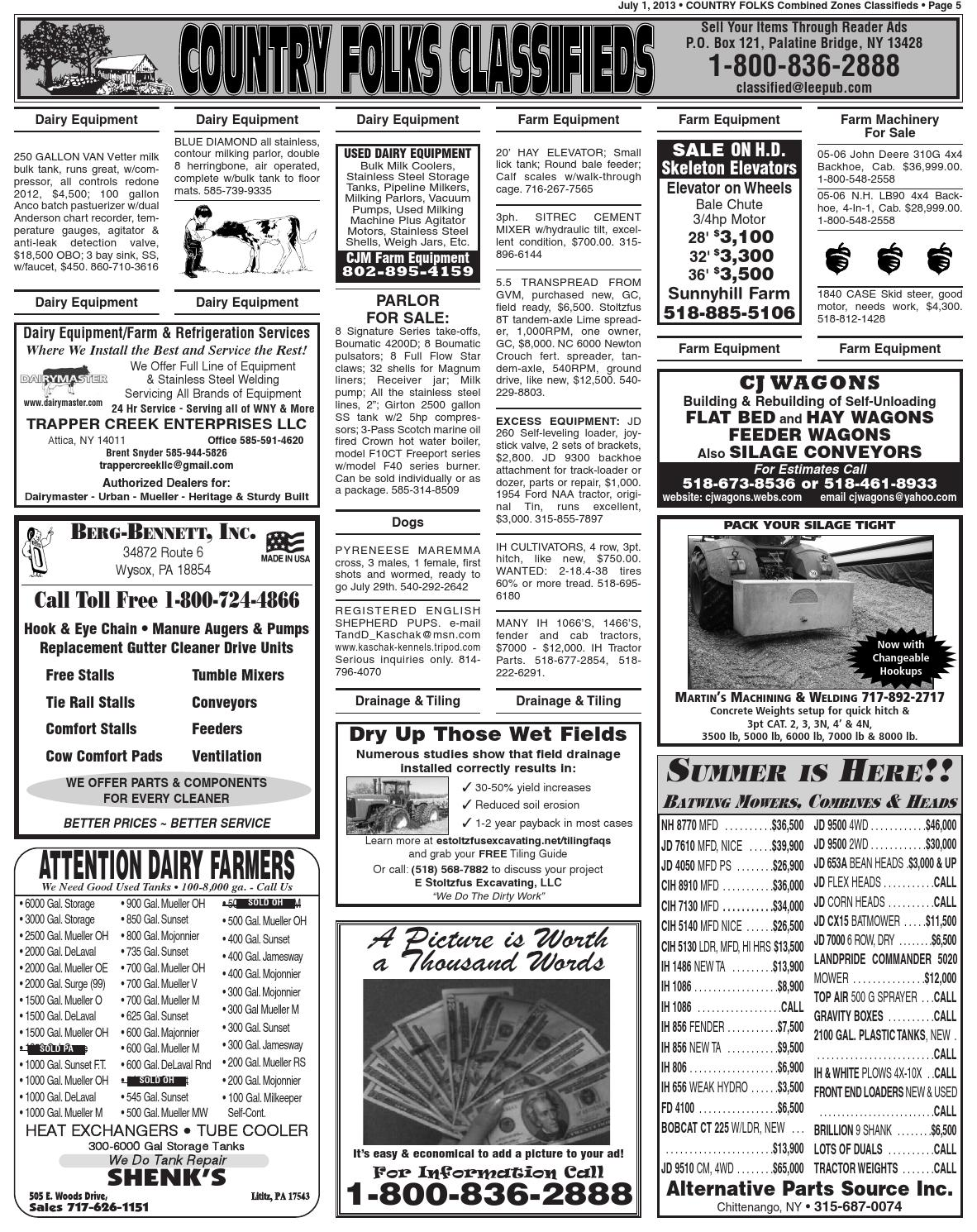 Country Folks Classifieds 7 1 13 by Lee Publications - issuu