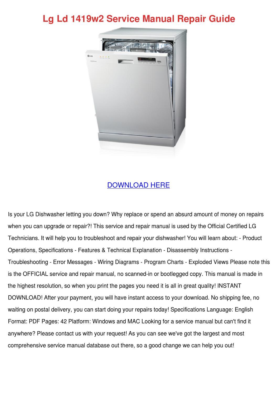 Lg Ld 1419w2 Service Manual Repair Guide by SashaRatcliff - issuu