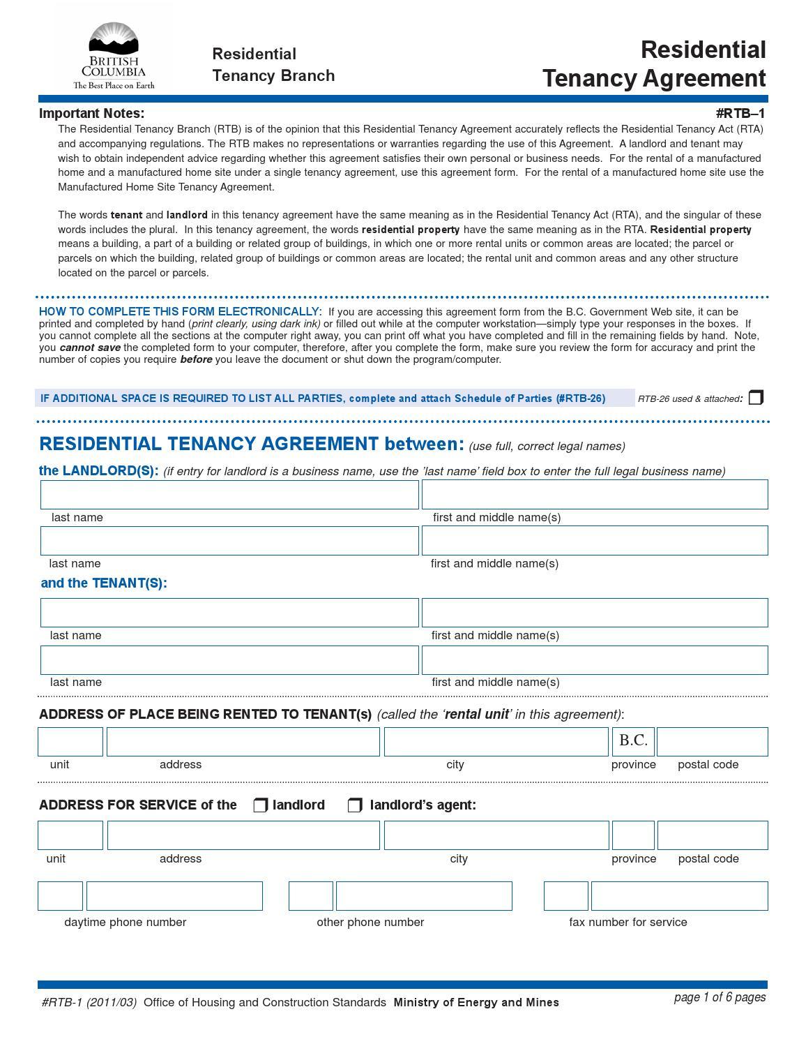 Residential Tenancy Agreement By Jacob Sener Issuu