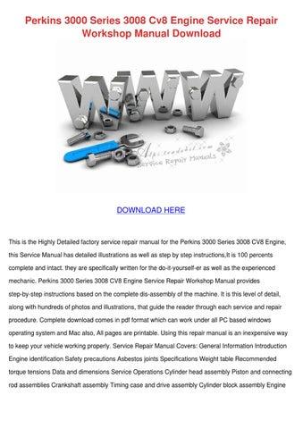 perkins 3000 series engines manual free owners manual u2022 rh wordworksbysea com