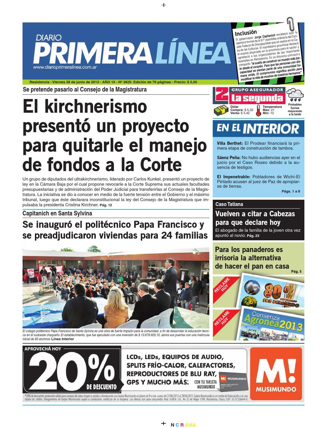 Primera linea 3825 28 06 13 by Diario Primera Linea - issuu