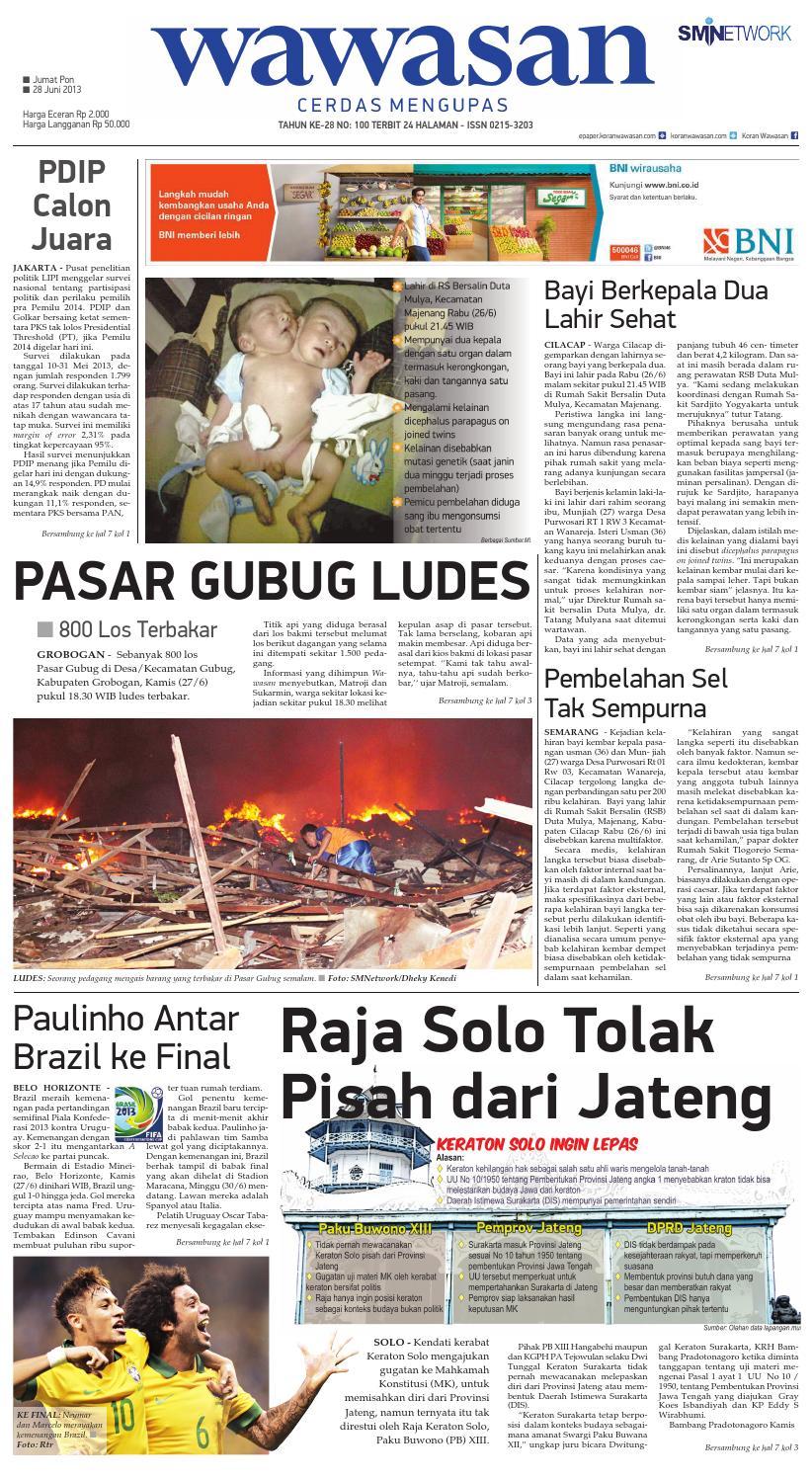 Wawasan 28 Juni 2013 By Koran Pagi Wawasan Issuu