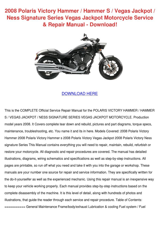 2008 Polaris Victory Hammer S Vegas Ja By Joeygabbard Issuu Wiring Schematic