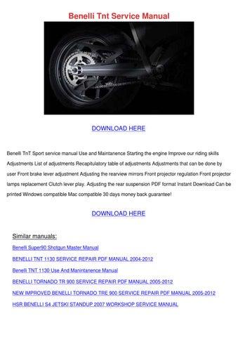 benelli tnt service manual by joeygabbard issuu rh issuu com benelli tnt 899 workshop manual benelli tornado 900 workshop manual
