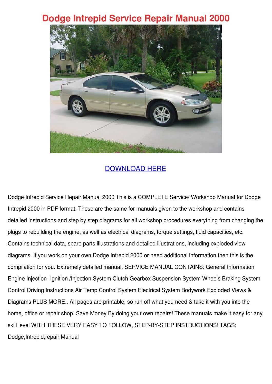 dodge intrepid 1993 1997 service repair workshop manual
