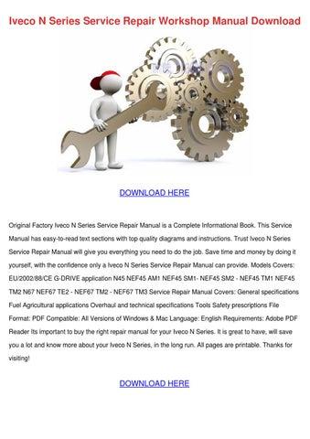 Iveco N Series Service Repair Workshop Manual by CasimiraBernier ...