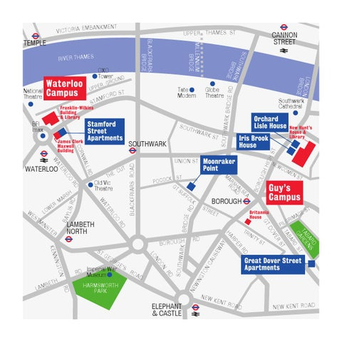 Kings College London Map.King S Venues Summer Accommodation 2013 By King S College London