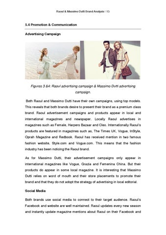 massimo dutti marketing analysis Free essay: new collection launch | marketing plan prepared by said hassan  amr sawy ahmed samy presented to dr talaat asaad table.