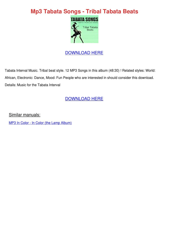 Mp3 Tabata Songs Tribal Tabata Beats by ZoeTillman - issuu