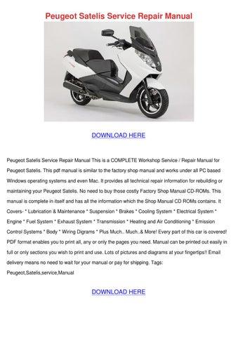 peugeot satelis service repair manual by zoetillman issuu rh issuu com Peugeot Scooters USA Honda Scooters