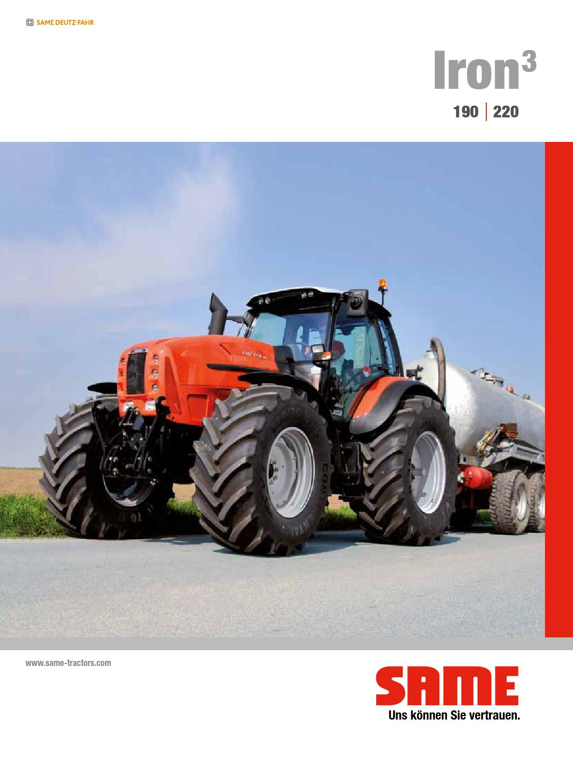 308 8509 5 1 1 iron3 190 220 de by SAME - Tractors - issuu
