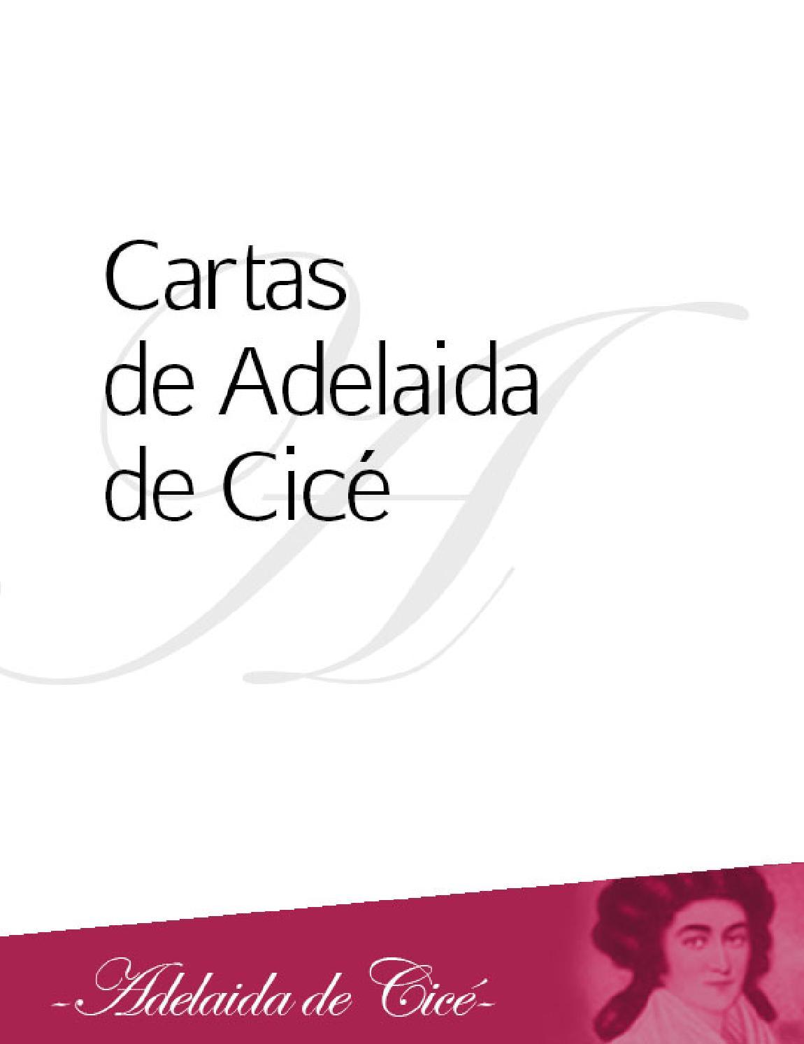 2 cartas de adelaida de cicé by Sociedad Hijas del Corazón de María ...