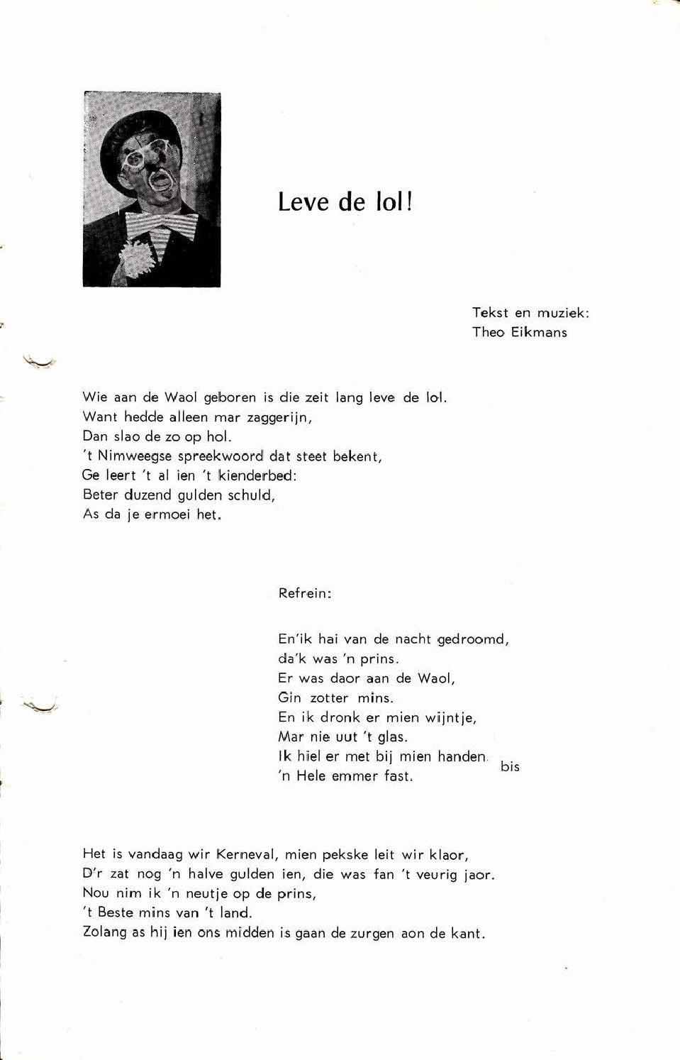 Waoterjokers Boekje 1964 1965 By Cv De Waoterjokers Issuu