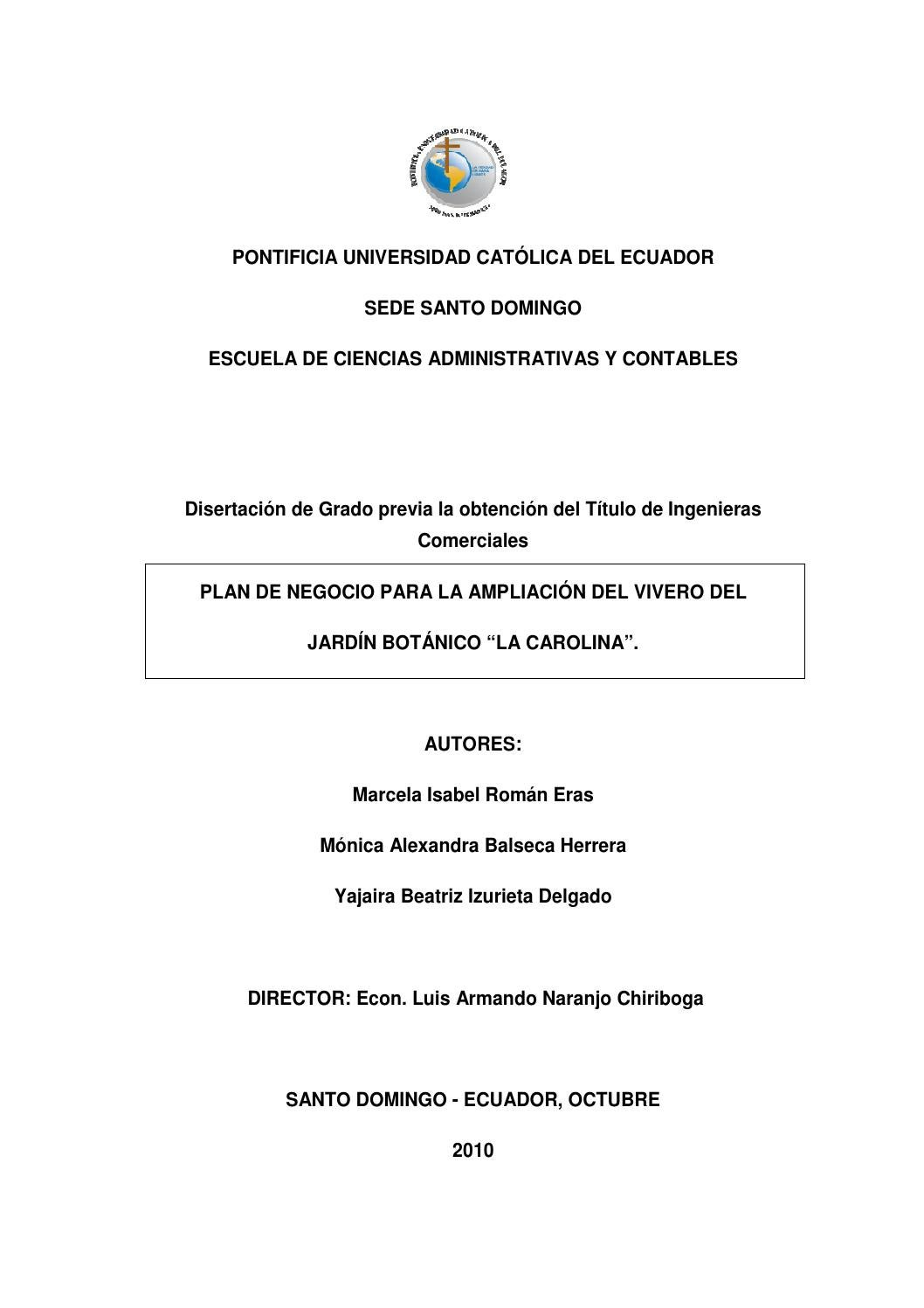 Plan De Negocio Para La Ampliaci N Del Vivero Del Jard N Bot Nico  # Foda Muebles De Madera