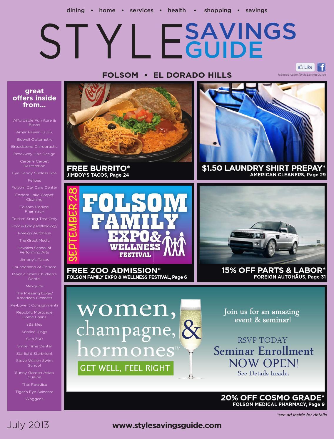 Style Savings Guide Folsom El Dorado Hills July Aug