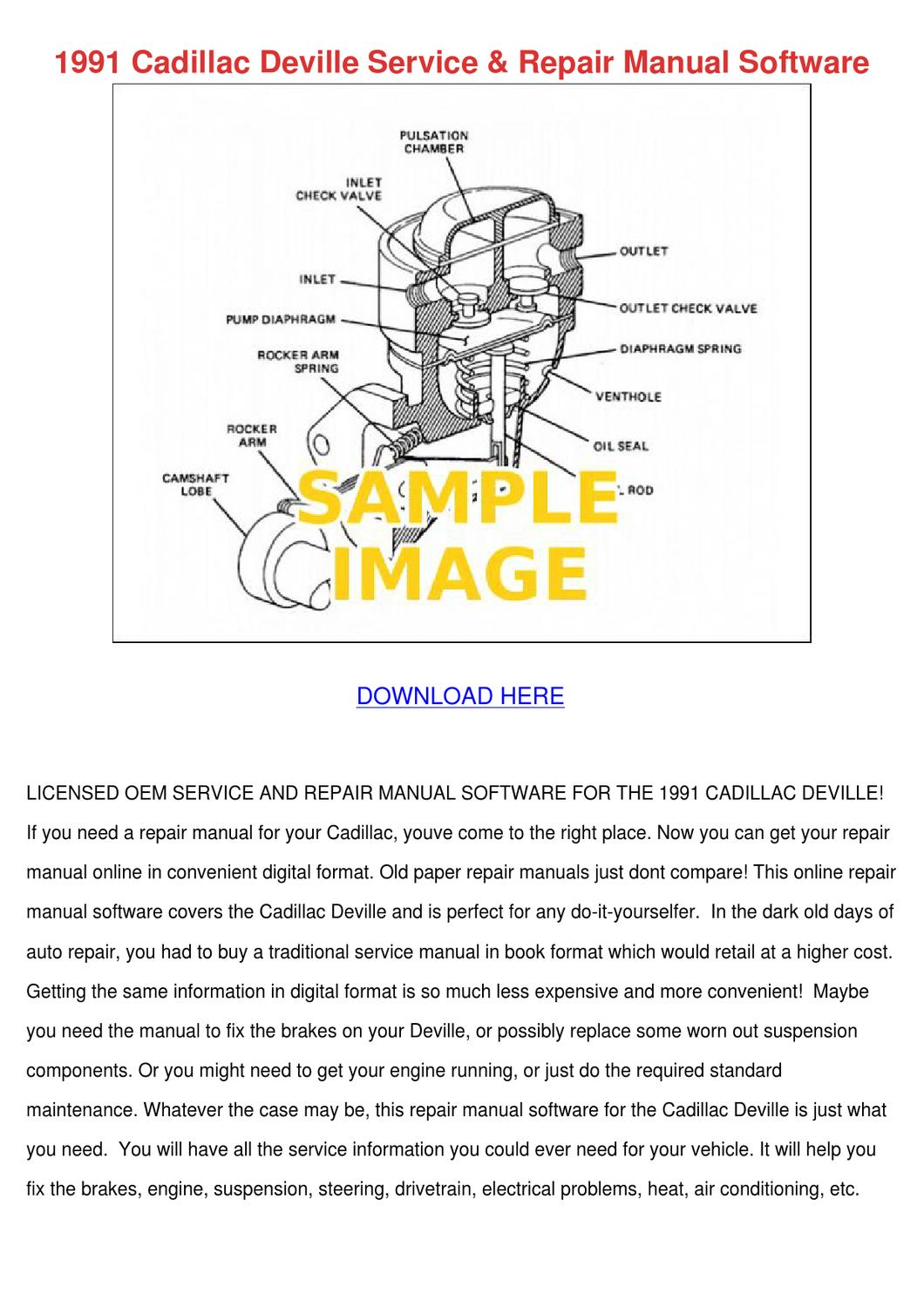 1991 Cadillac Deville Service Repair Manual S by FeliciaDaily - issuu
